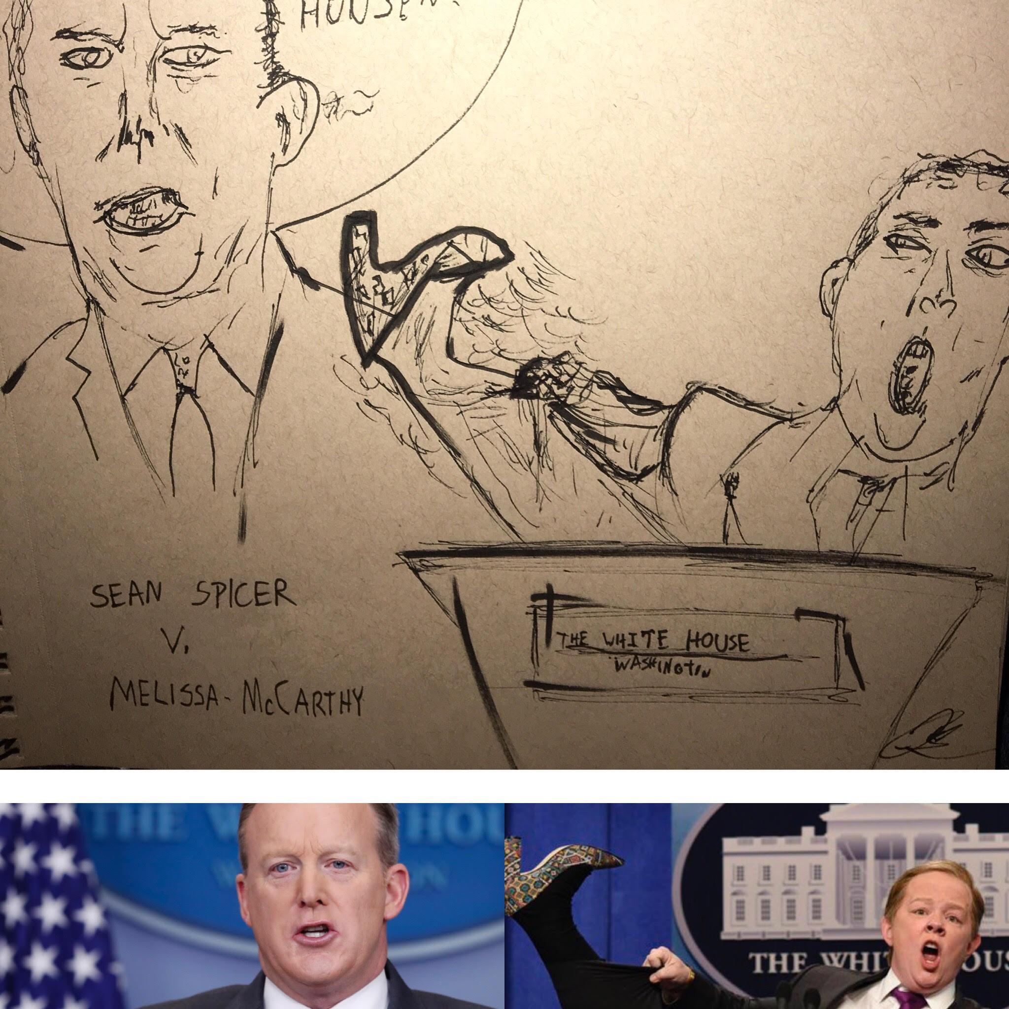 Melissa McCarthy V. Sean Spicer Political Satire Sketch