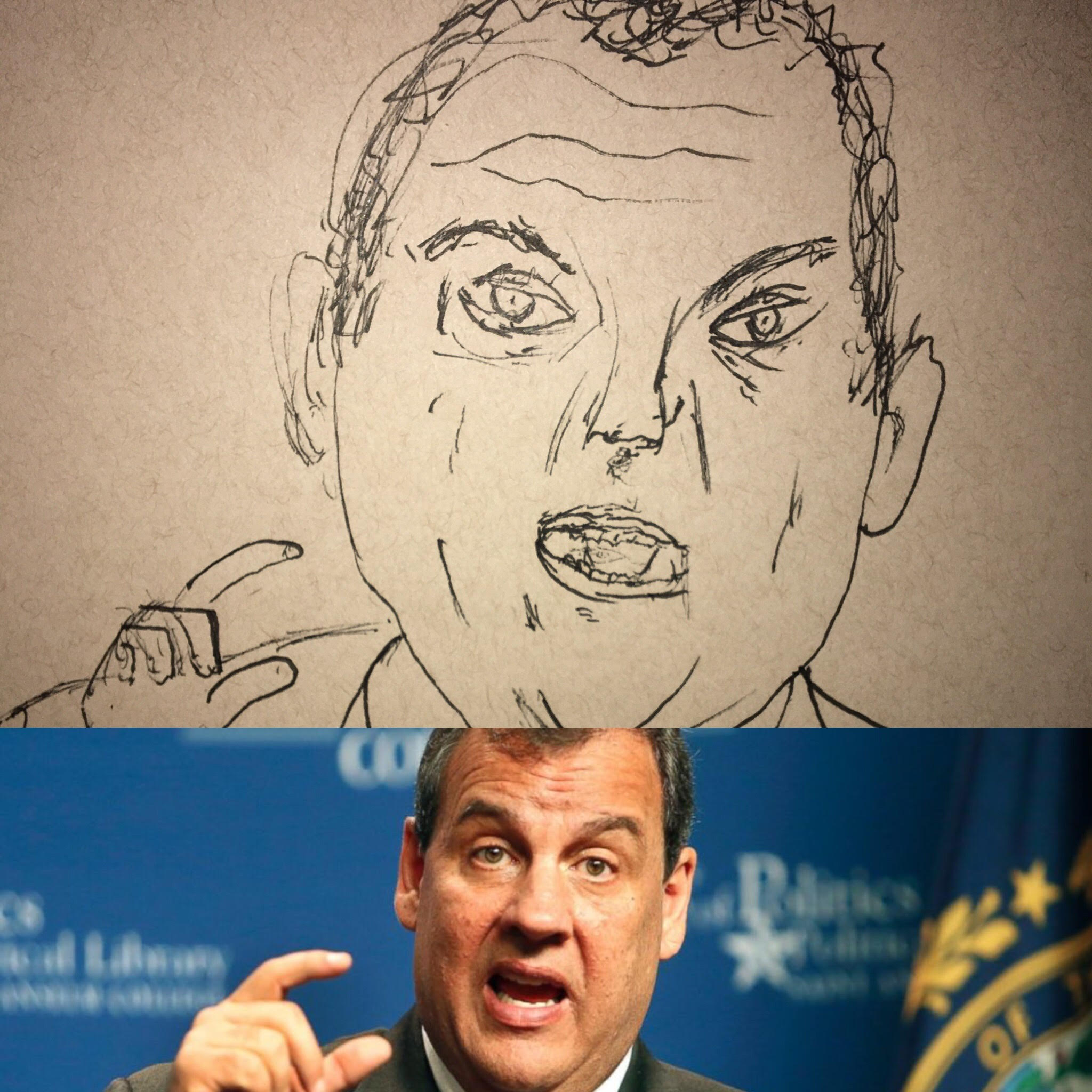 Chris Christie Ugly Sketches of Ugly People Political Satire Sketch