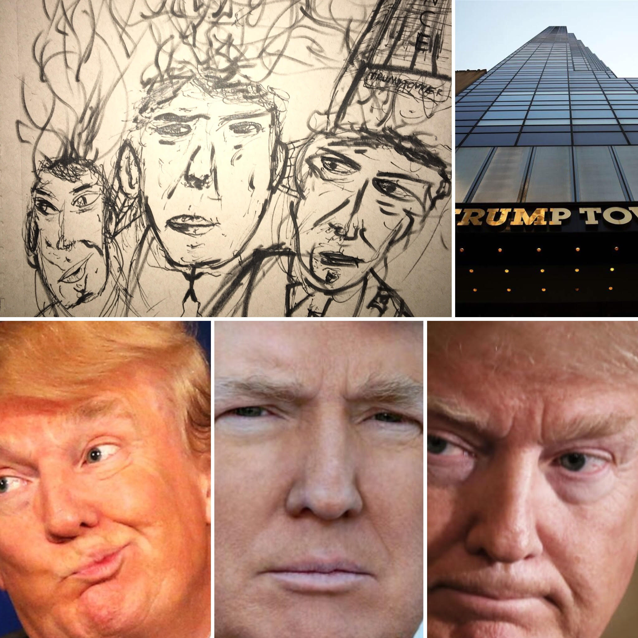 The Many Ugly Faces of Donald Trump - Ugly Sketches of Ugly People