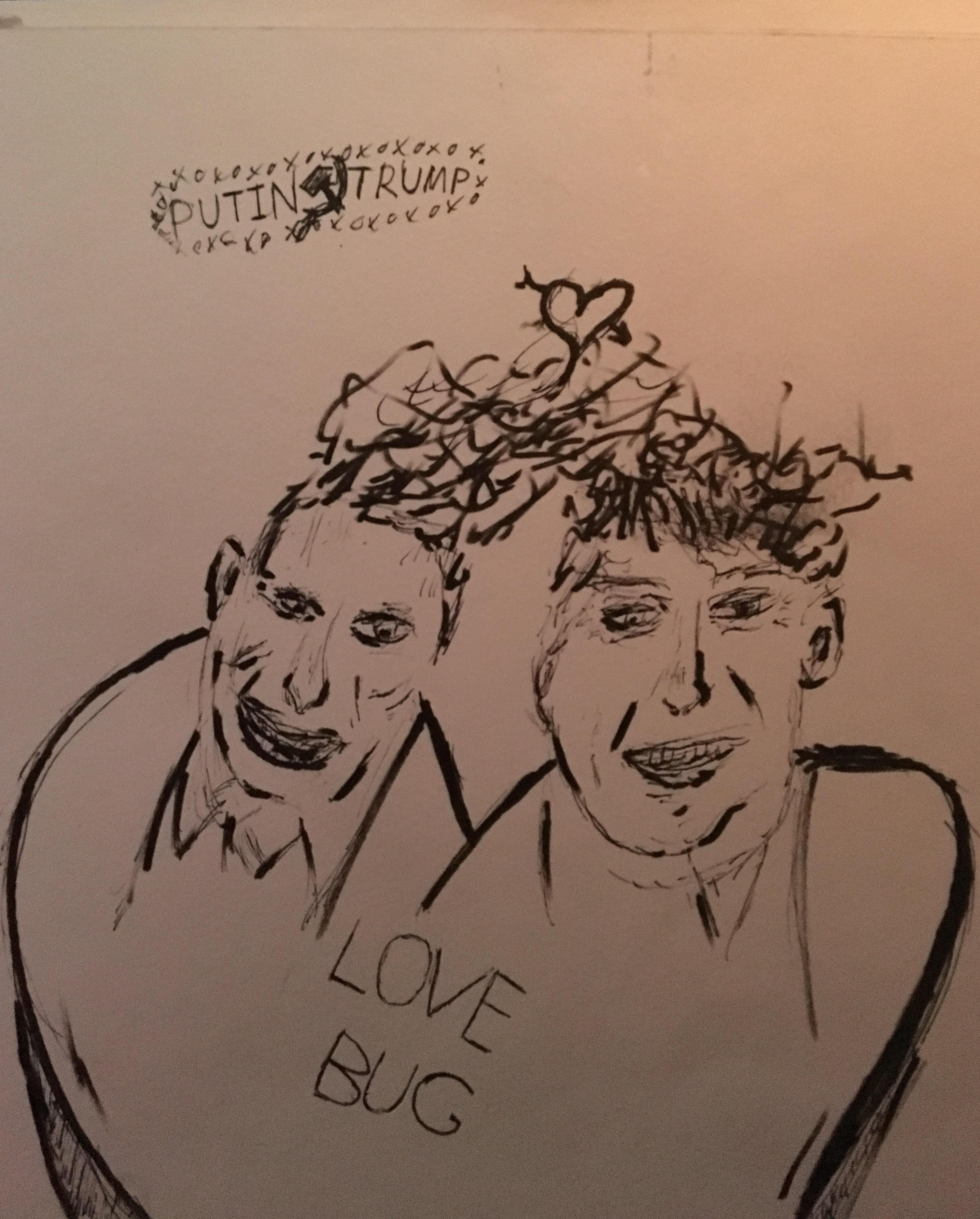 Donald Trump & Vladimir Putin Love Bugs Political Satire Valentine's Day Sketch